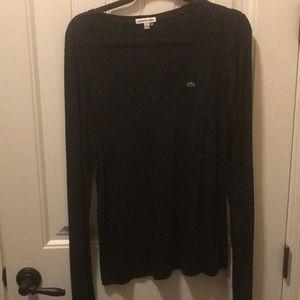 Black Lacoste long sleeved shirt